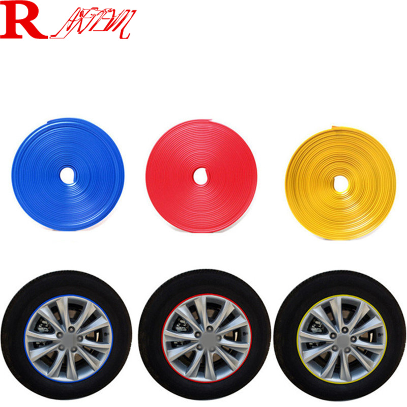 8M Car Wheel Hub Tire Protection Sticker For Peugeot 206 207 301 307 308 407 408 508 2008 3008 4008 5008