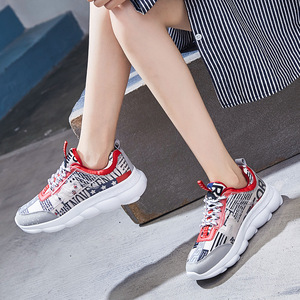 Image 5 - fashion Sneakers Women Trainers Vulcanized Shoes Casual Couple Shoes Tenis Feminino Ladies Shoes 2019 Summer Zapatillas Mujer
