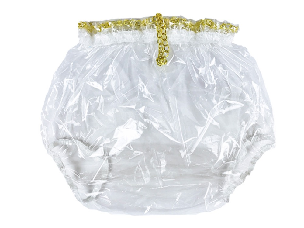 Haian ABDL Pull-On Locking Plastic Pants Color Glass Clear  # P016-9