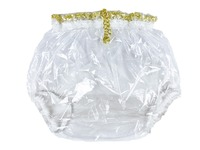 Haian ABDL Pull On Locking Plastic Pants Color Glass Clear # P016 9