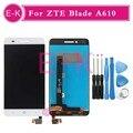 """Высокое качество 5.0 """"для ZTE Рейса 4 Лезвие A610 TD-LTE ЖК-Дисплей + Touch Screen Digitizer Ассамблеи Замена + Инструменты"""