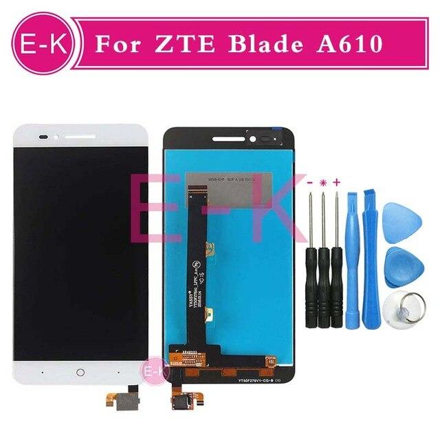 "Alta calidad 5.0 ""para zte voyage 4 hoja a610 td-lte lcd display + touch screen reemplazo del digitizador assembly + herramientas"