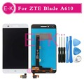 """High quality 5.0"""" For ZTE Voyage 4 Blade A610 TD-LTE LCD Display + Touch Screen Digitizer Assembly Replacement + Tools"""