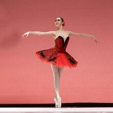 Özelleştirilmiş siyah kırmızı bale elbiseler, Don kişot rol bale elbise tek parça perakende toptan