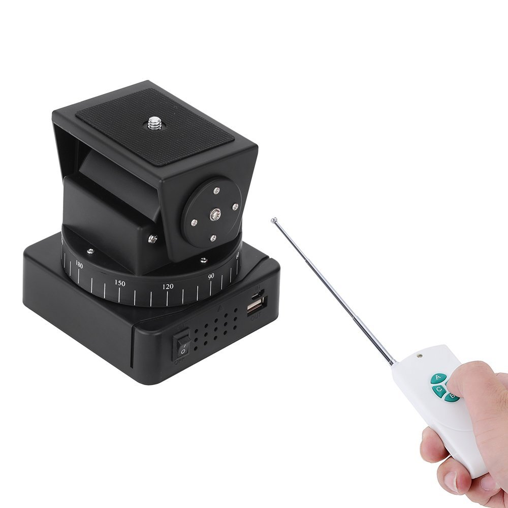 Mcoplus YT-260 Motorized Remote Control Pan Tilt with Tripod Mount Adapter for Extreme Camera Wifi Camera and Smartphone universal cell phone holder mount bracket adapter clip for camera tripod telescope adapter model c