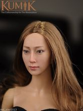 KUMIK 16-14 1/6 Scale Female Head Sculpts Model Toys Beautiful Girl Head Craving Model For 12″ Action Figure   Body Accessory