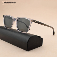 new Transparent vintage sunglasses men polarized sunglasses women square sunglasses luxury brand retro sun glasses for men/women