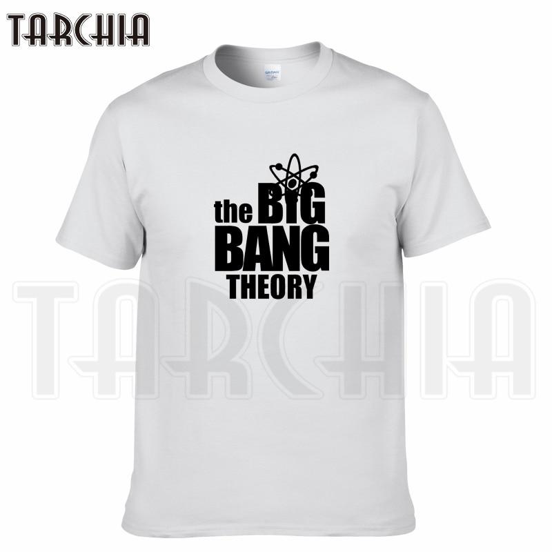 TARCHIA 2018 summer tv brand Big Bang Theory men short sleeve boy casual t-shirt cotton tops tees homme tshirt t plus fashion