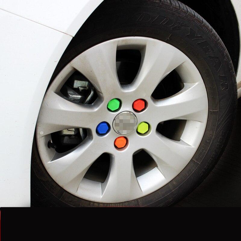 20 Stücke Farben Shiny Gummi Räder/felgen Schraube Kappe Abdeckung Für Ford Kuga Escort Foucs Mondeo (2013 14 15 16 17 18 2019) Acb019