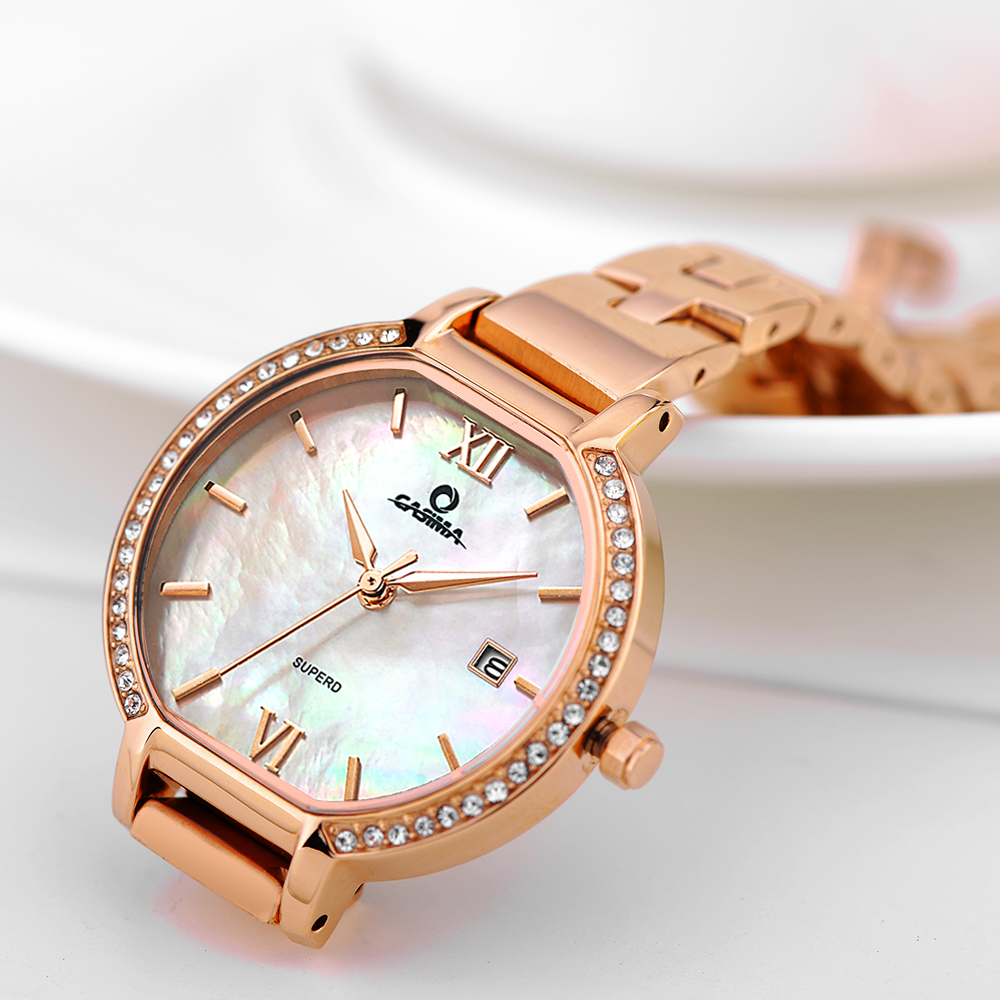 New CASIMA Luxury Brand Women Bracelet Watches Montre Femme Fashion Casual Gold Ladies Quartz Watch Women Relojes Mujer tezer ladies fashion quartz watch women leather casual dress watches rose gold crystal relojes mujer montre femme ab2004