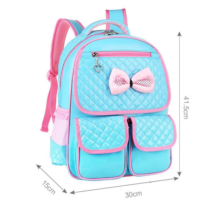 Girl s School Bags Lovely Bowknot Children School Bag Brand PU Leather  Travel Bag Korean 1 3 6 Grade Girl Book Bag Y060-in School Bags from Luggage    Bags ... 24a402027b5dc
