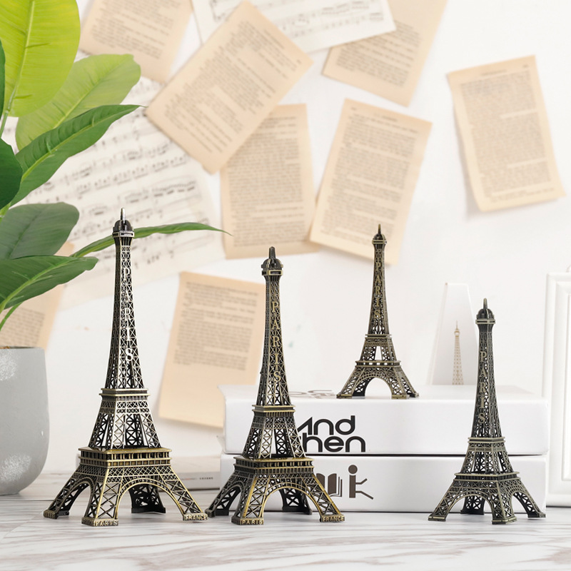 US $6.54 41% OFF|Creative Eiffel tower Miniature home decoration  accessories for living room bedroom office desk retro decor home rustic  Metal-in ...