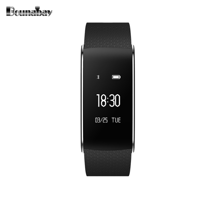 BOUNABAY Heart Rate Pedometer bracelet Bluetooth Smart woman watch apple android phone waterproof women Clock Touch sport Clocks cute love heart hollow out bracelet watch for women