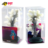 Glowing Effect Fluorescente TPR de Silicone Coral Artificial para Fish Tank Ornamento Do Aquário Decorativo