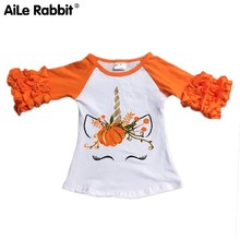 Halloween Children T Pity Baby Single Lace Long Sleeve Child Pumpkin