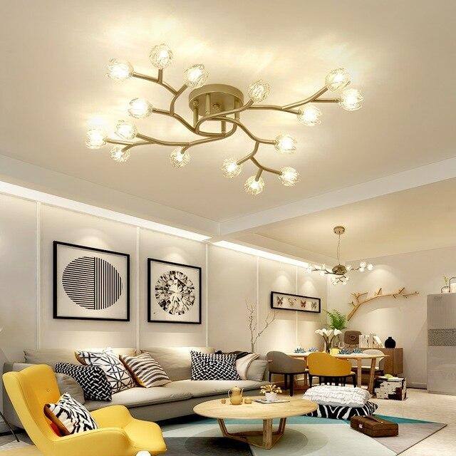 LED chandelier loft deco fixtures Glass suspension luminaires Nordic hanging lights bedroom lighting living room suspended lamps|Pendant Lights| |  - title=