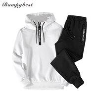 Spring 2018 New Men Tracksuit Two Piece Sets Pullover Sweatshirts Pants Sportwear Male Suit Sweatshirts Asian
