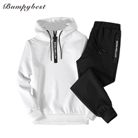 Spring 2018 New Men Tracksuit Two Piece Sets Pullover Sweatshirts Pants Sportwear Male Suit Sweatshirts Asian