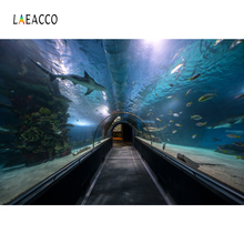 Laeacco Fish World Underwater Aquarium Corridor Baby Child Portrait Photo Backgrounds Photography Backdrops For Studio