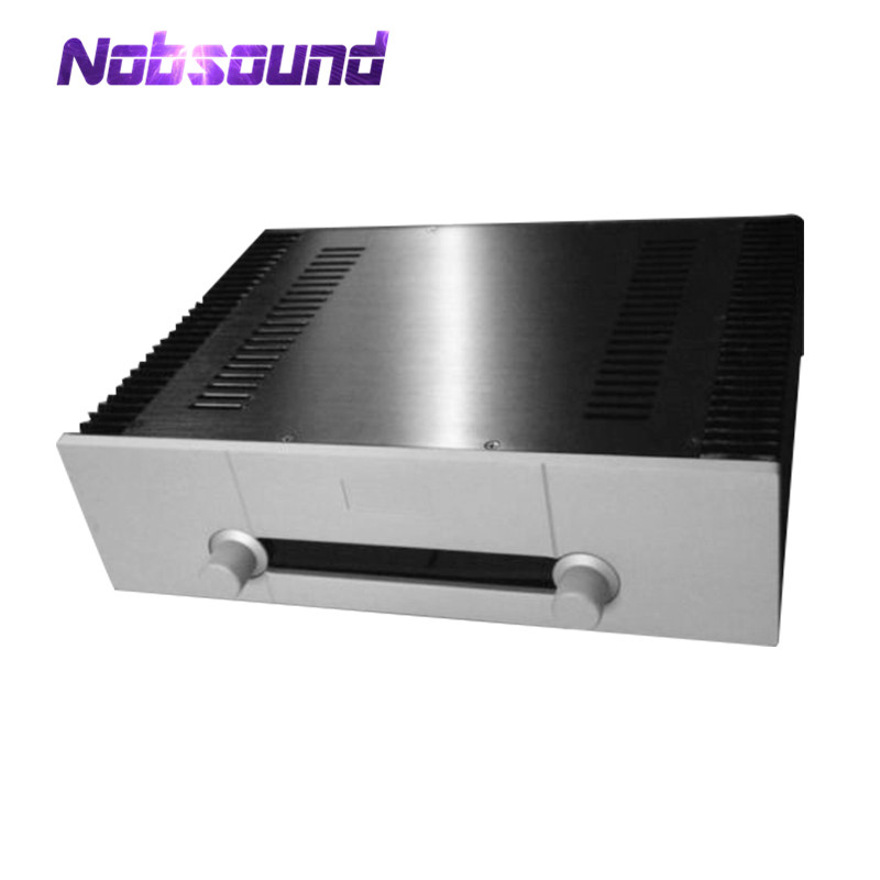 цена на Nobsound Integrated Aluminum Chassis Power Amplifier Case DAC Enclosure White Panel Box