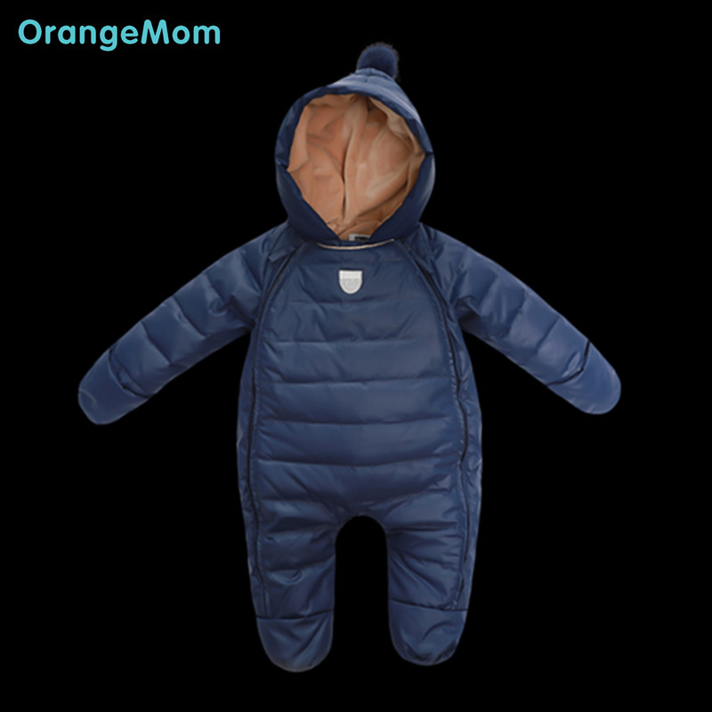 ФОТО Warmest winter down coats for baby boys clothing 2 layer thicken children's winter jacket 0-24 M Winter costume child girls