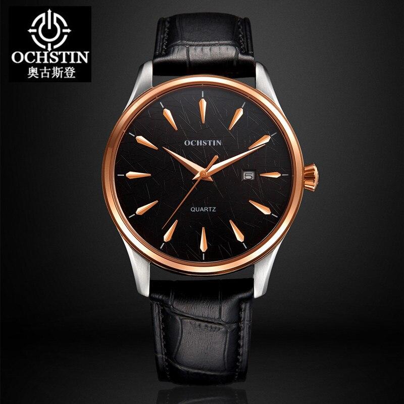 Marca de Luxo Relógios para Mulheres dos Homens de Esportes Masculino dos Homens de Couro Relógio de Senhora de Pulso de Quartzo Real Ochstin Casuais Relógio Masculino 2020