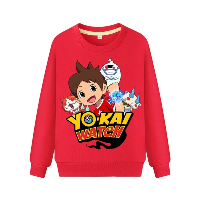 Child Cartoon Yokai Watch Print Hoodies Hoodie Kids Spring Autumn Casual Sweatshirts Boys Girls Long Sleeve Pullover Coat DZ101 (2)