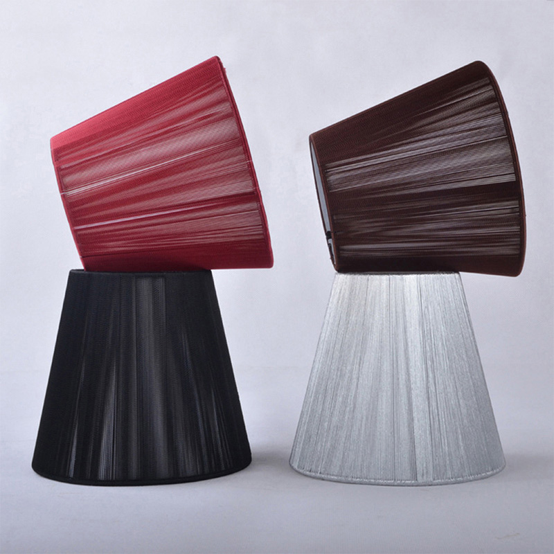 FRLED 1 Pcs Stainless Steel Art Deco Lampshades For Lamps