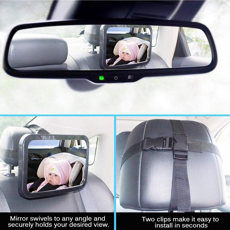 5-Зеркало для детского автомобиля, безопасное детское сидение зеркало для заднего вида младенца с широким кристально чистым видом, небьющеес... смотреть на Алиэкспресс Иркутск в рублях