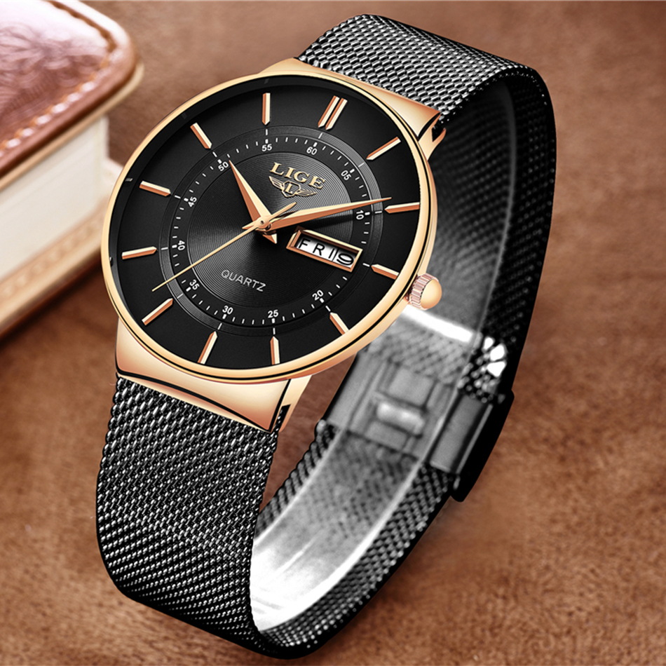 HTB1JZ3MaRSD3KVjSZFqq6A4bpXaE Mens Watches LIGE Top Brand Luxury Waterproof Ultra Thin Date Clock Male Steel Strap Casual Quartz Watch Men Sports Wrist Watch