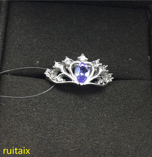 opening design natural blue tanzanite gem ring natural gemstone ring s925 silver trendy triangle snake women party gift jewelry KJJEAXCMY fine jewelry S925 Pure silver inlaid with natural tanzanite ring jewelry platinum color. xcvbnm