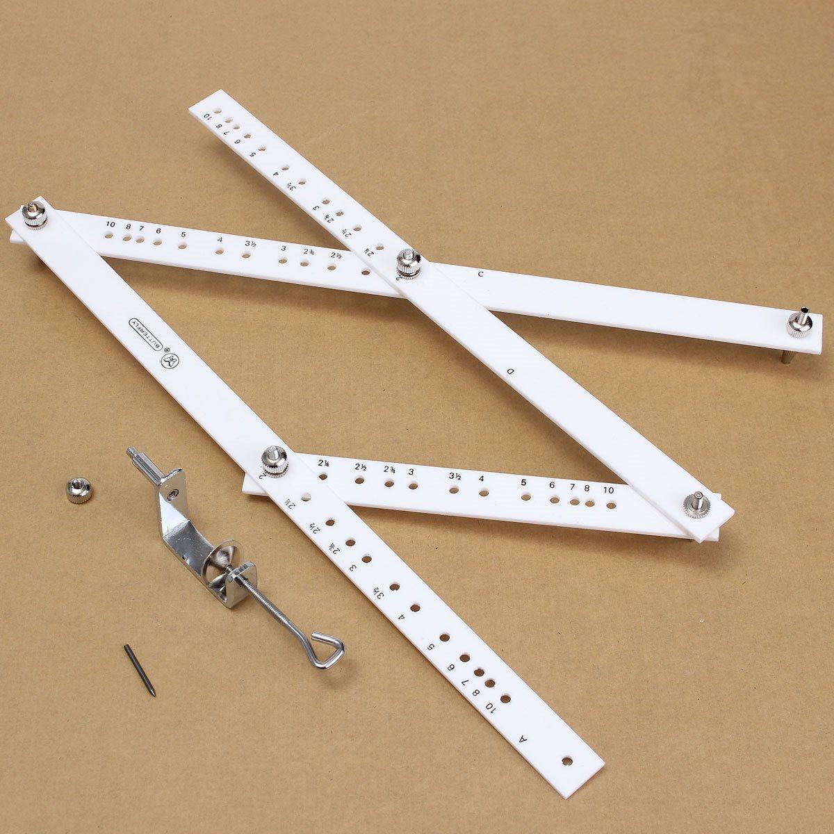 Kicute 34cm Scale Drawing Ruler Artist Pantograph Folding Ruler Reducer Enlarger Tool Art Craft For Office School Supplies