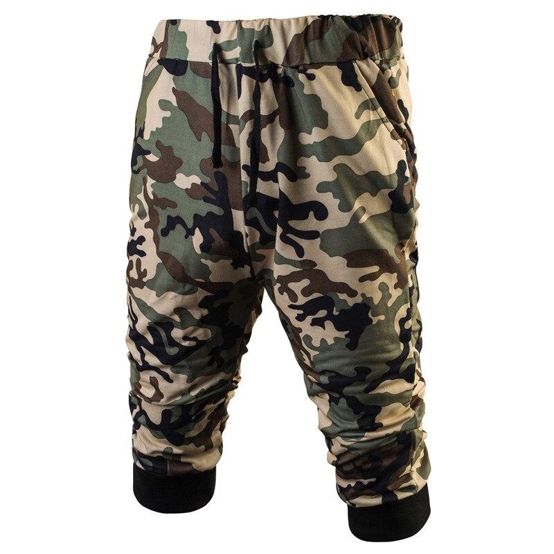 Mens Military Camouflage Shorts 2017 Summer Bodybuilding Sweat Shorts Army Camo Casual Mama Shorts Harem Capri Baggy Boardshorts