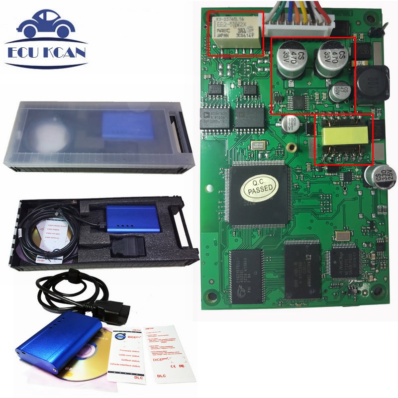 Prix pour DHL Livraison Super V-OLVO Vida Dice Diagnostic Interface 2014D Pour Volvo DÉS VIDA Outil De Diagnostic Multi-langues Avec En Plastique boîte