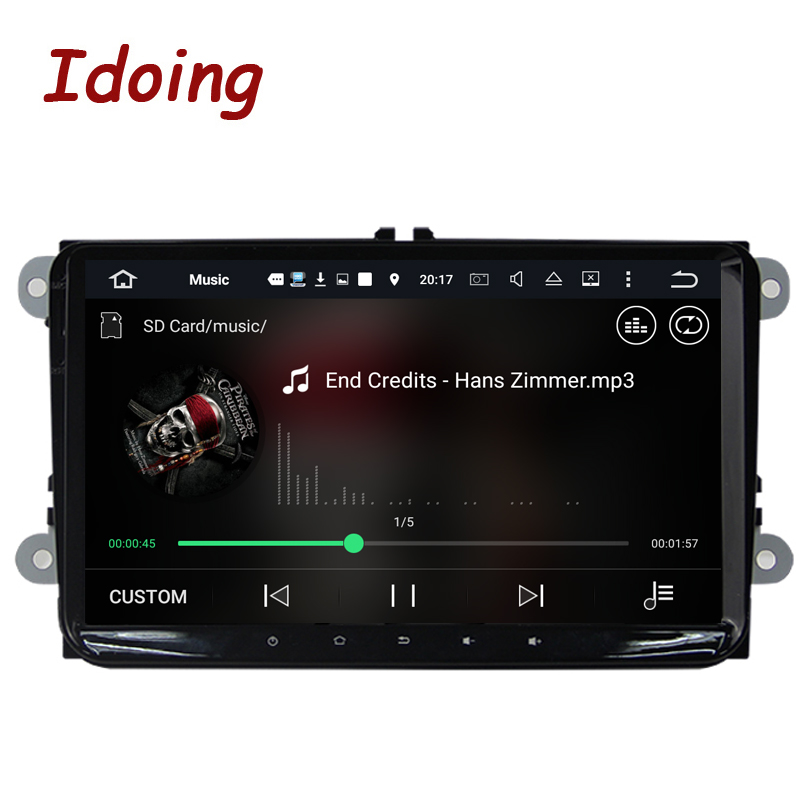 Idoing Android6 0 2G 32G 8Core 1Din Steering Wheel For VW Skoda Seat Car Multimedia GPS