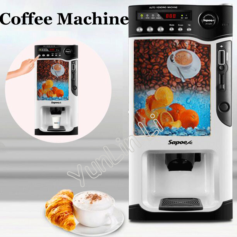 US $585 0 |Auto Vending Coffee Machine Hot and Cold Milk Tea Machine 220V  Automatic Instant Coin Operated Tea Coffee Making Machine -in Machine  Centre