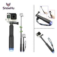 SnowHu POV Pole раздвижной селфи-монопод Selfie Stick с Bluetooth Контролируемая ручным моноподом для дайвинга с тех пор, как для экшн-камеры Gopro Hero 7 6 5 4 3 + 3 2 ...