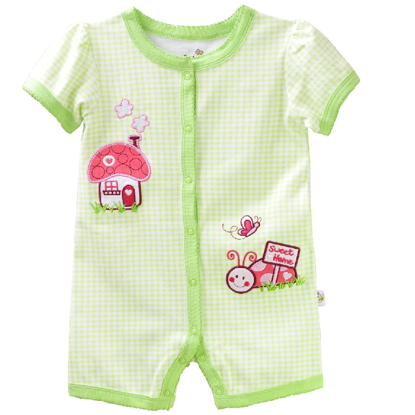 Green Baby Rompers Newborn Baby Girls Pajamas baby girl clothes baby romper newborn jumpsuit bebe 2017 Summer Clothing sr118 baby rompers 2016 spring newborn cotton pajamas clothes bebe long sleeve hooded romper infant overall boys girls jumpsuit