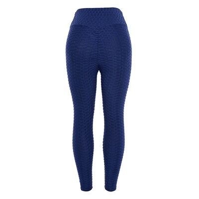 CHRLEISURE Fitness Black Leggings Women Polyester Ankle-Length Standard Fold Pants Elasticity Keep Slim Push Up Female Legging 8