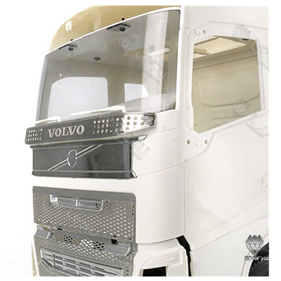 RC Kamyon Aksesuarları Metal Ön Dekoratif Koruma Izgara Fit Için Tamiya 1/14 RC Traktör Römork VOLVO FH12 FH16 56360 oyuncak araba
