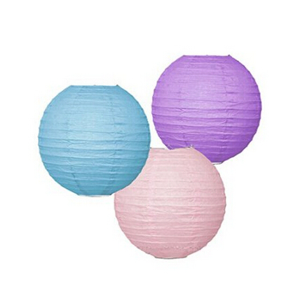 Set of 6 mixed pastel pink blue lavender paper lantern lamp shade set of 6 mixed pastel pink blue lavender paper lantern lamp shade baby girl room nursery aloadofball Images