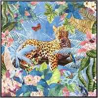 100% Dipinto A Mano Bella Fiori Leopard Pittura A Olio di Arte Su Tela di Canapa di Arte Della Parete Della Parete Ornamento Immagini Per Sala Live Complementi Arredo Casa