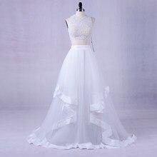 4258a3339d221 LORIE Beyaz İki Adet Balo Elbise 2018 Vestidos De Graduacion Parti Elbiseler  Seksi Kız Resmi Uzun Akşam Önlük Elbiseler