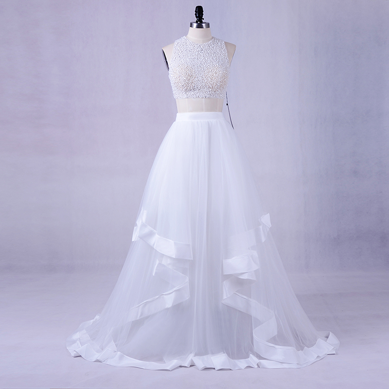 LORIE White Two Piece   Prom     Dress   2018 Vestidos De Graduacion Party   Dresses   Sexy Girls Formal Long Evening Gowns   Dresses