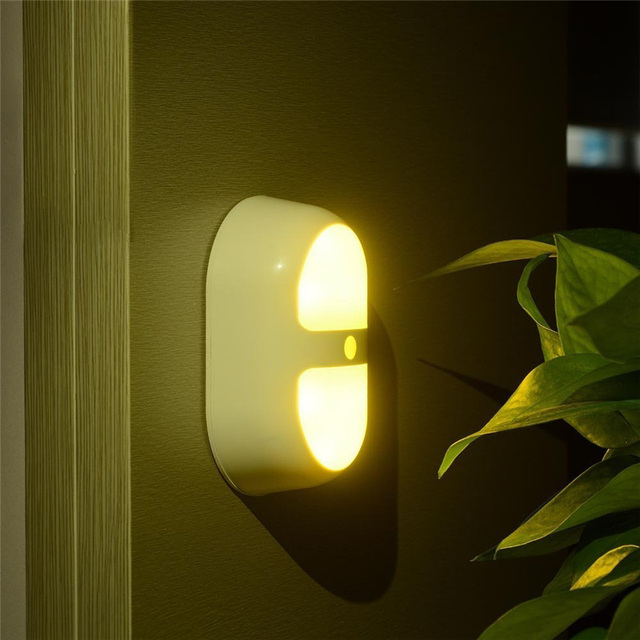 LederTEK Motion Sensor LED Wall Night Light Auto Onoff Smart - Bedroom lights off