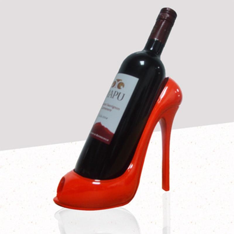 High Heels Wine Rack Wine Holder Shelf Resin Practical Sculpture Wine stand Home Decoration Interior Crafts Christmas Gift