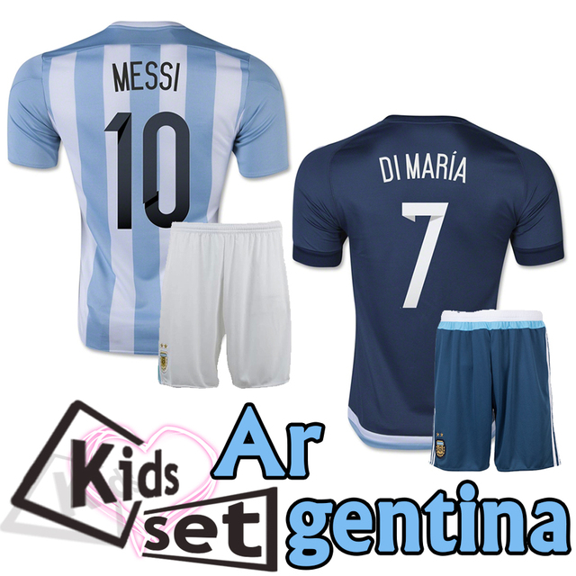 212e94669 Argentina Home Away kits Youth children soccer jersey 2015 2016 Argentina  FANS kids football shirt MESSI DI MARIA AGUERO HIGUAIN