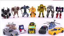 8cm Mini Classic Transformation Plastic Robot Cars