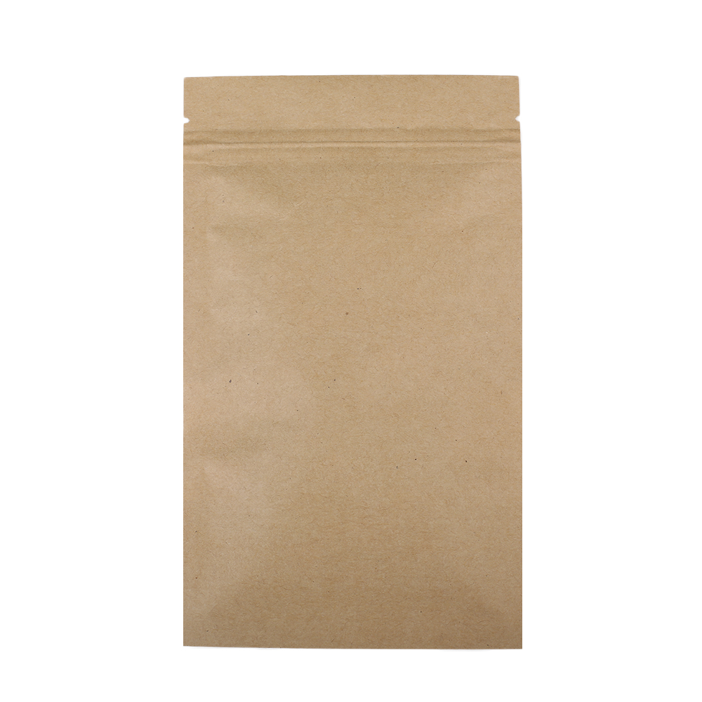 Durable Multi Sizes Flat Brown Kraft Packaging Bags Food Bolsa Paper Bag Storage With Clear Window 100pcs Lot In From Home Garden On