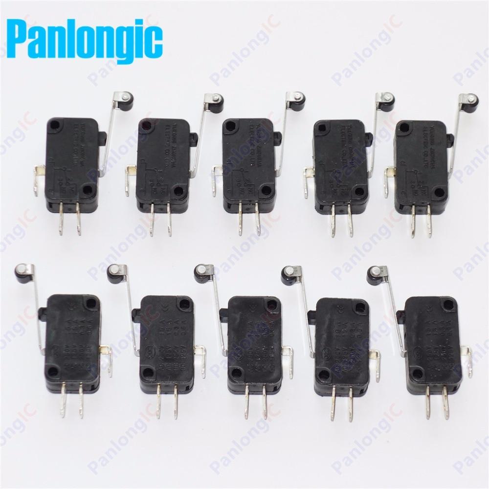 100 Pcs Lot Micro Limit Switch Kw7 2 Roller Arm Miniatur Spdt Snap 10pcs Reed Switches Magic Induction No Nc Aksi Banyak Gratis Pengiriman